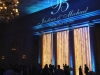 Animated Monogram & Light Blue Up Lighting @ The Hall of Springs