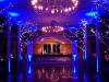Monogram & Electric Blue Up Lighting @ The Old Daley Inn on Crooked Lake
