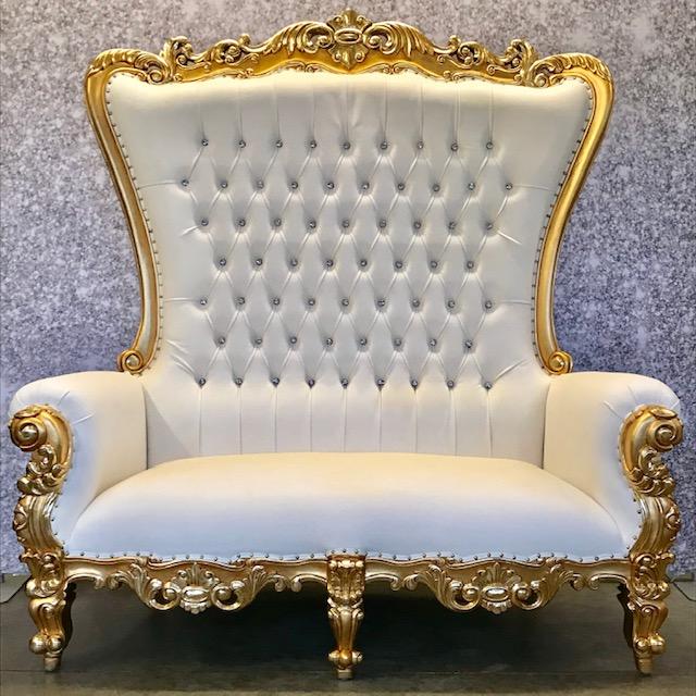 Gold Throne Bench