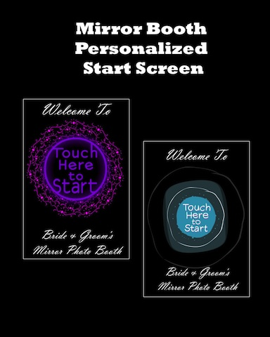 Magic Mirror Me Booth Personalization